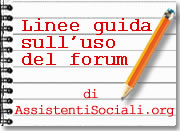 Scrivere sul forum
